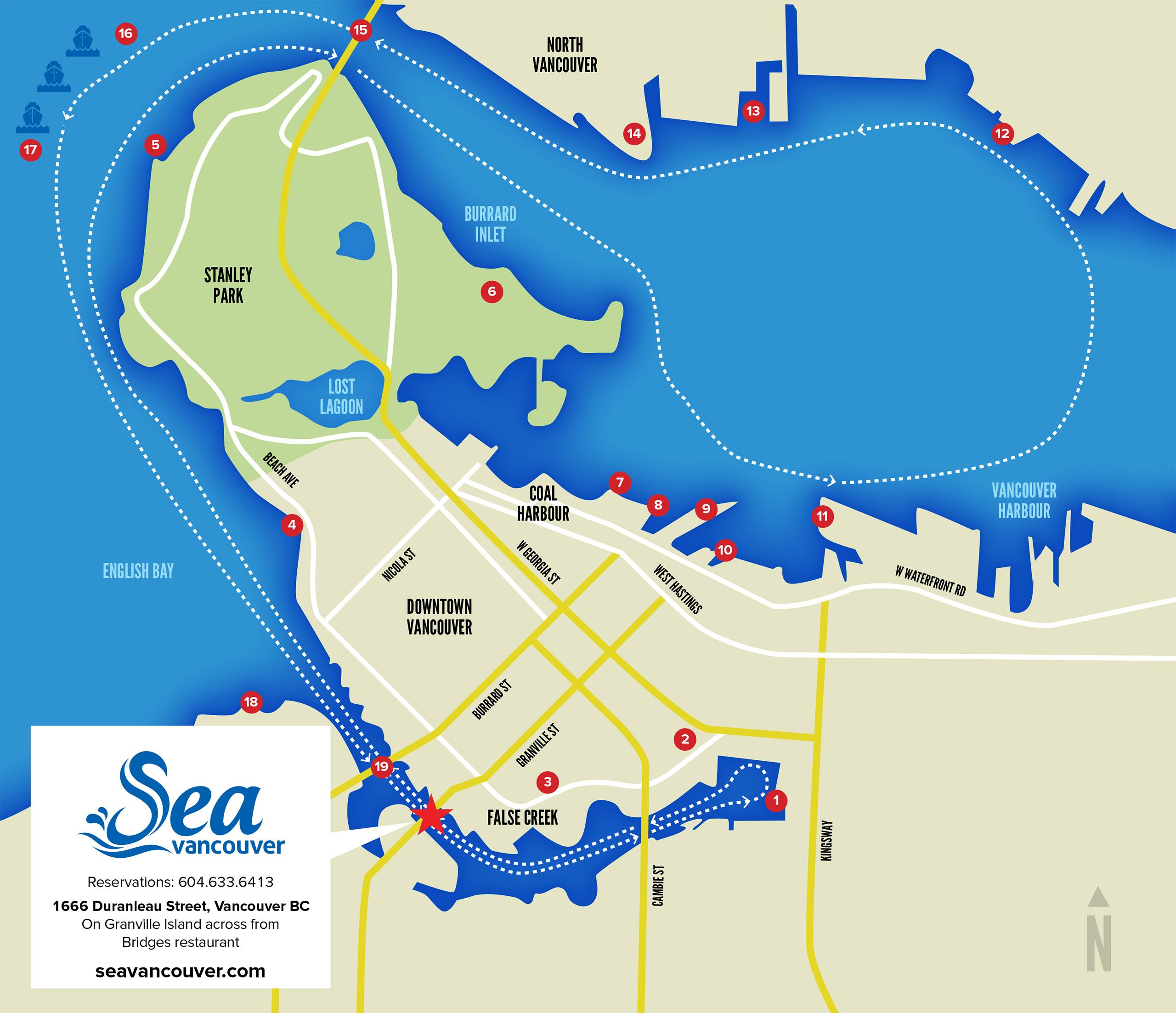 Sea Vancouver Map